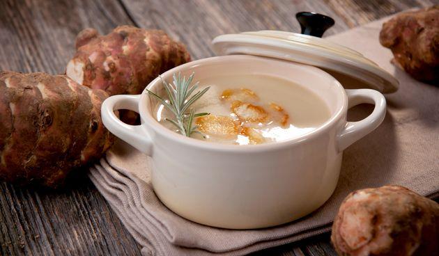 Aardpeersoep #recept #recipe #aardpeersoep #aardpeer #soep #winter