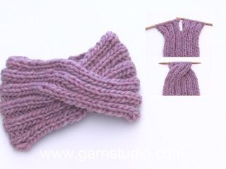 How to knit a headband with a braid at the front center   – Knitting & crochet