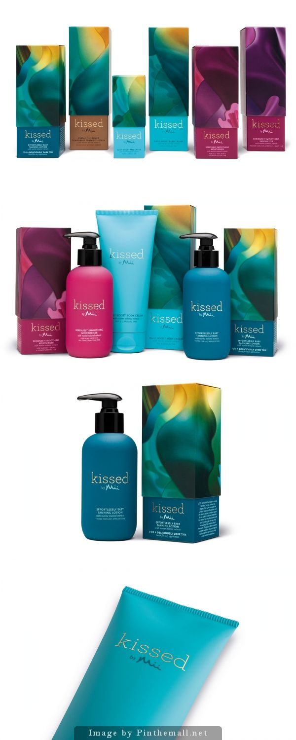 Pearlfisher London creates identity and packaging for Kissed by Mii, the new tanning range from Gerrard International.
