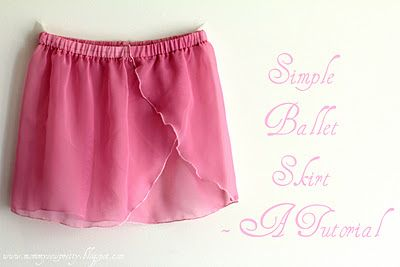 Ballet skirt tutorial.