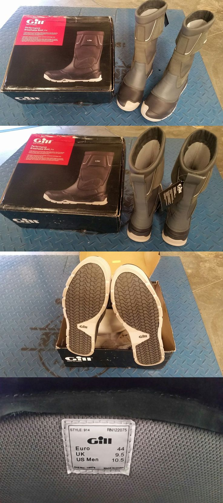 Men 159144: Gill Performance Breathable Sailing Boots - Graphite Mens 10.5 -> BUY IT NOW ONLY: $230 on eBay!