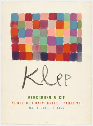 MoMA | The Collection | Paul Klee. Poster for Klee Exhibition at Berggruen & Cie. 1955