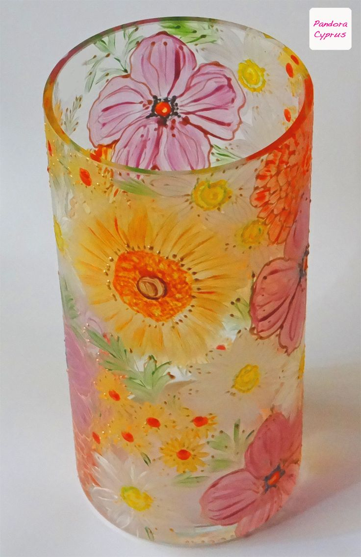 A very special glass design, hand painted in #Cyprus.