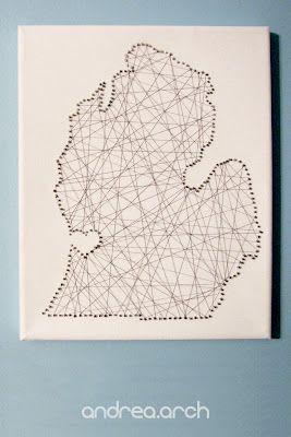 DIY nail & string state art!
