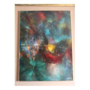 """Signed """"Nierman"""" and dated """"64"""" lower right. Approx. Height 31.5 in. x Width 23.5 in. (sight); Height 39 in. x 31 in. (framed)   Condition: overall appears good; with minor abrasions at edges of the..."""
