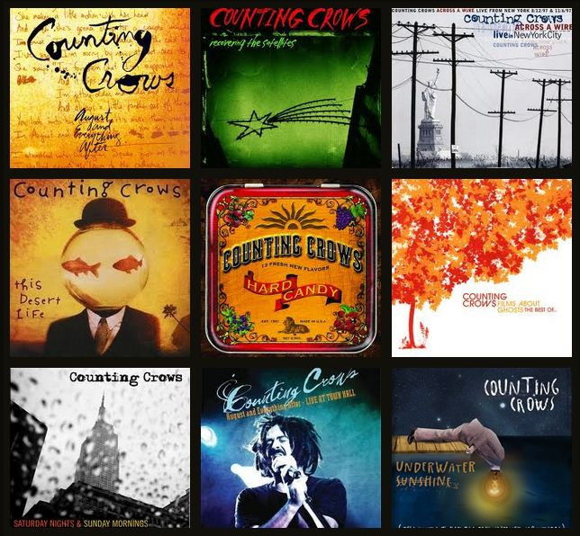 Some of my favorite music in the world lives in these Counting Crows albums.