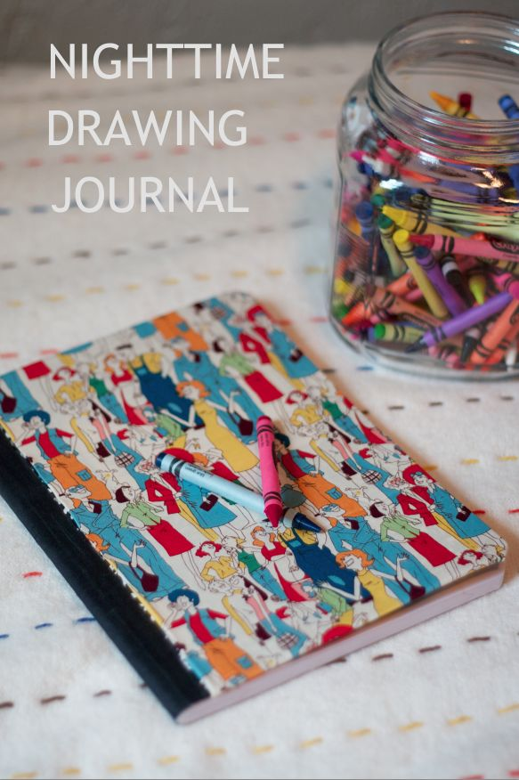 Childrens Nighttime Drawing Journal - Each night have your child draw a