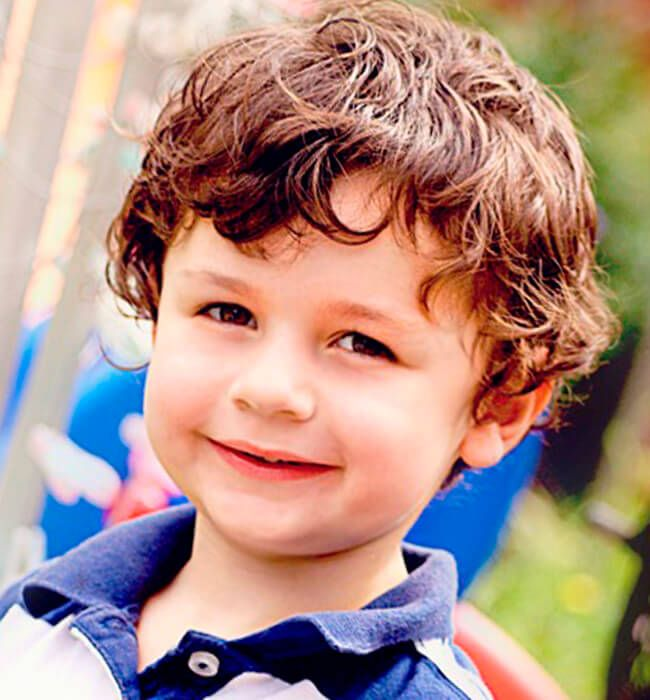 Curly haircut for toddlers