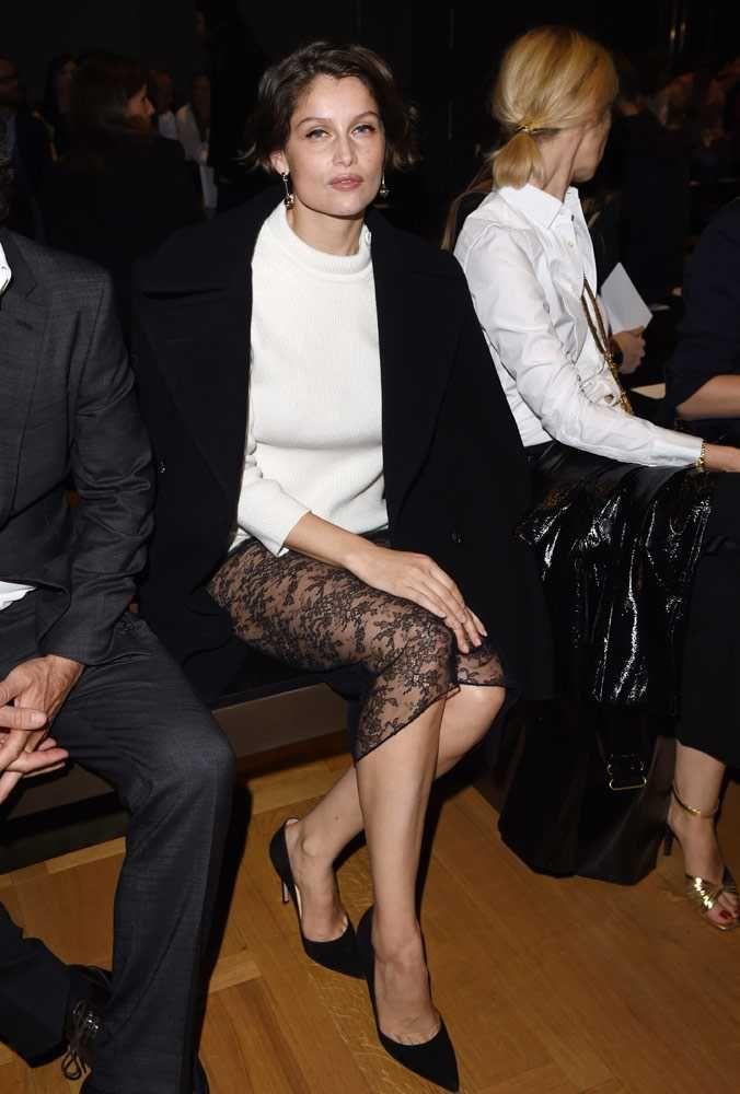 Laetitia Casta, in Nina Ricci F15 (Look 1), at Nina Ricci S/S16 show during PFW S/S 2016 front row