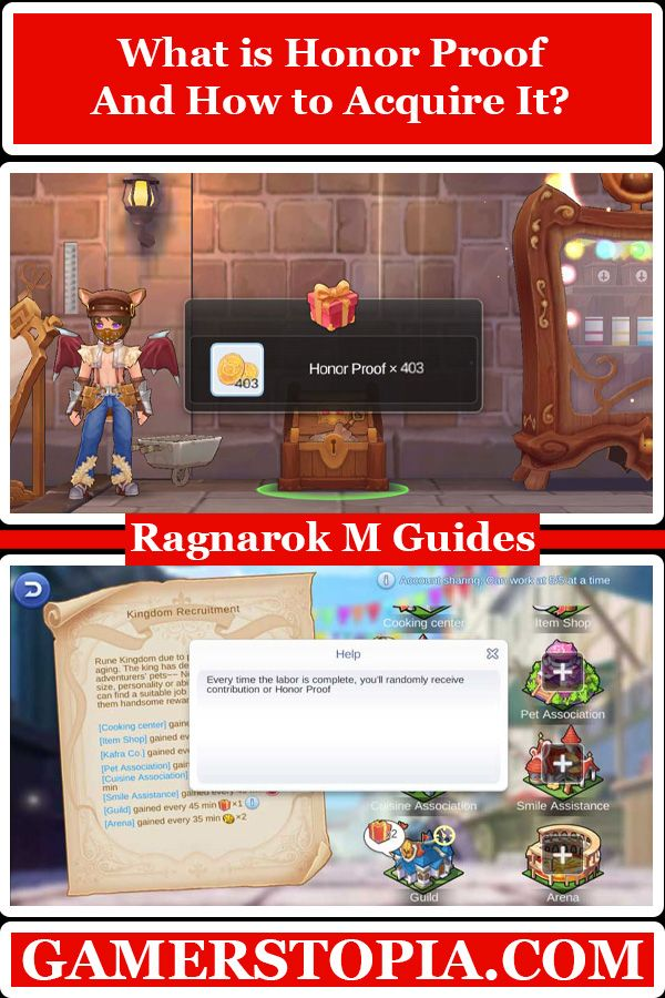 What Is Honor Proof And How To Acquire It In Ragnarok Mobile Eternal Love Gamerstopia Videogame Mmorpg Games Ragnarok Mobile Pack Of Cards Honor