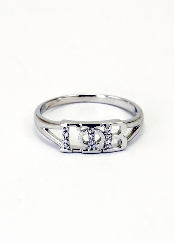 Gamma Phi Beta Sterling Silver Ring set with by CollegiateStandard, $35.00