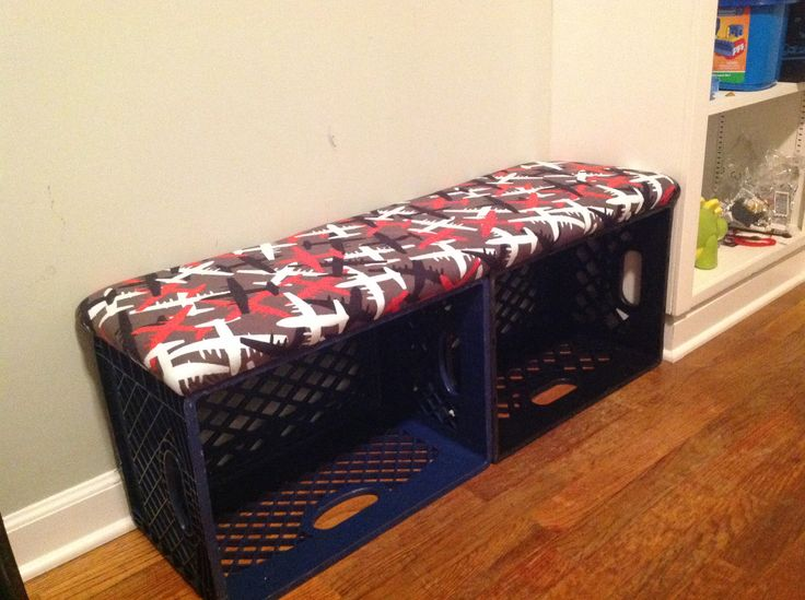 24 Best Images About Milk Crate Bench Library Decor