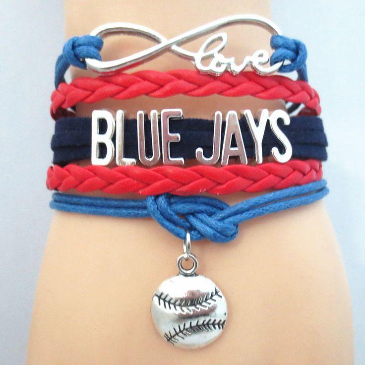 Infinity Love Toronto Blue Jays baseball Bracelet BOGO