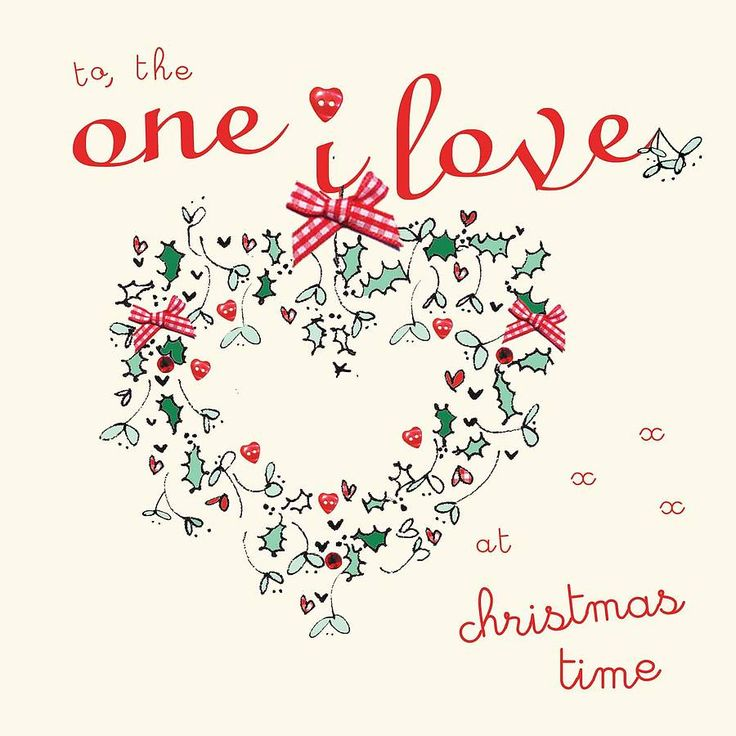 ' to the one i love' christmas card by laura sherratt designs | notonthehighstreet.com