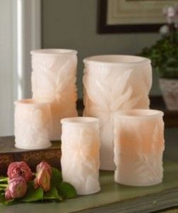 Flameless Tropical Candles #beachdecor #beach #tropical