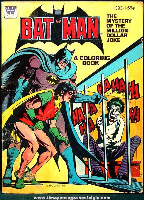 Vintage Batman The Mystery Of Million Dollar Joke Coloring Book See And Robin Battle Villainous Joker