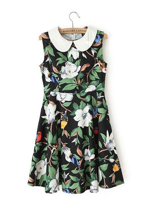 floral dress + wedges