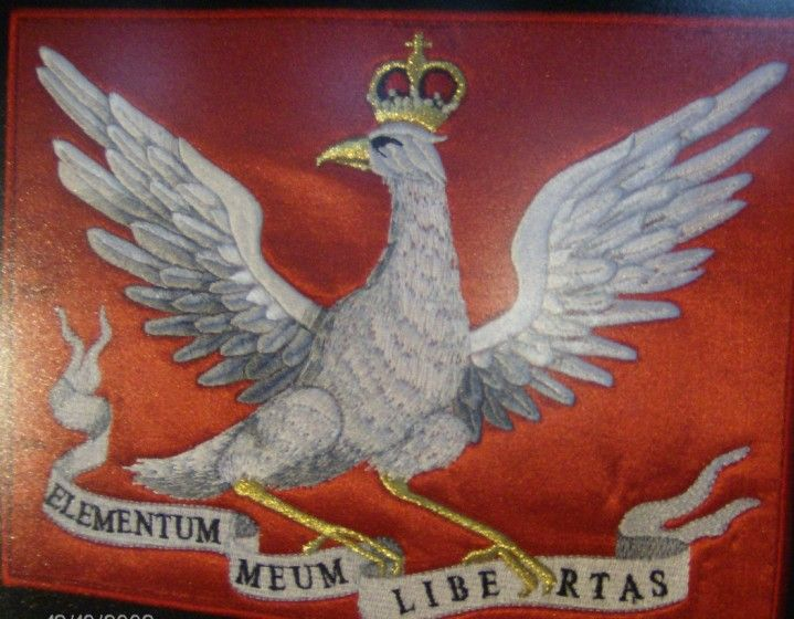 Orzeł z 1783 r, Haft.  Embroidered eagle