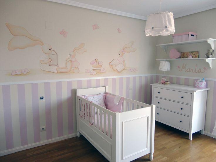 117 mejores im genes sobre murales infantiles en pinterest - Dibujos habitacion bebe ...