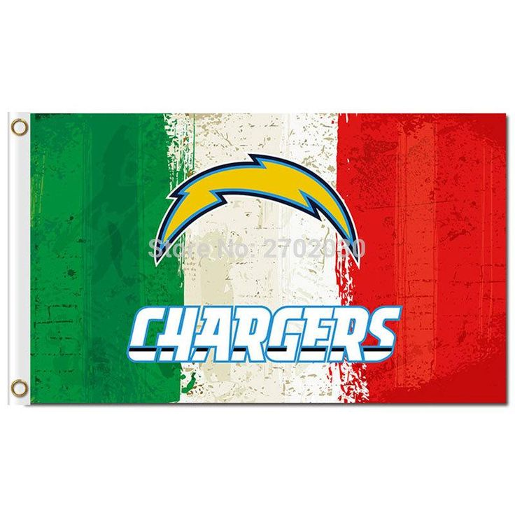 San Diego Chargers Flag Green White Red Colors Custom Banner World Series Football Team 3ft X 5ft San Diego Chargers Banner Flag