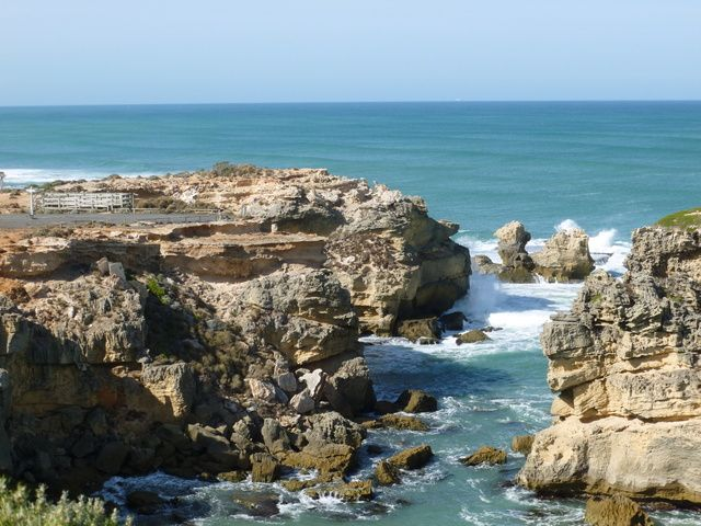 Rocky coastline at Port MacDonnell, South Australia. It is the southernmost town in SA, located on the Great Australian Bight.