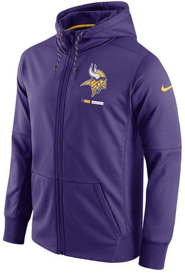 Nike Men's Minnesota Vikings Therma Full-Zip Hoodie