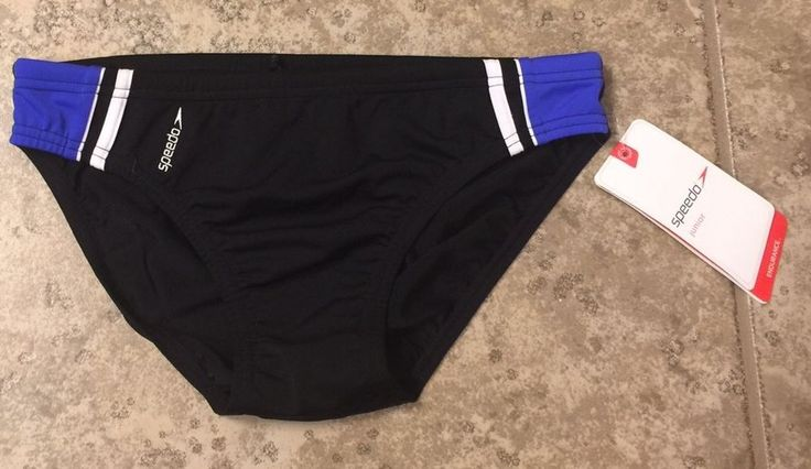 Speedo Boys Sz 14 Black Marvel Brief #Speedo #BriefTrunks