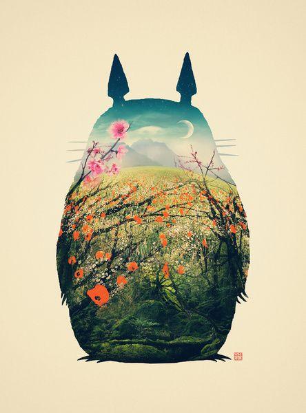 TotoroVictor Vercesi, Totoro Art, Not Them Miyazaki, Illustration, Digital Art, Art Prints, Canvas, Frames Art, Studios Ghibli