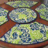 <p>Get rid of those rectangle placemats that you use on your round table. Now is the time to make the perfect placemats for your round table. The method I use is easy and fast.</p>