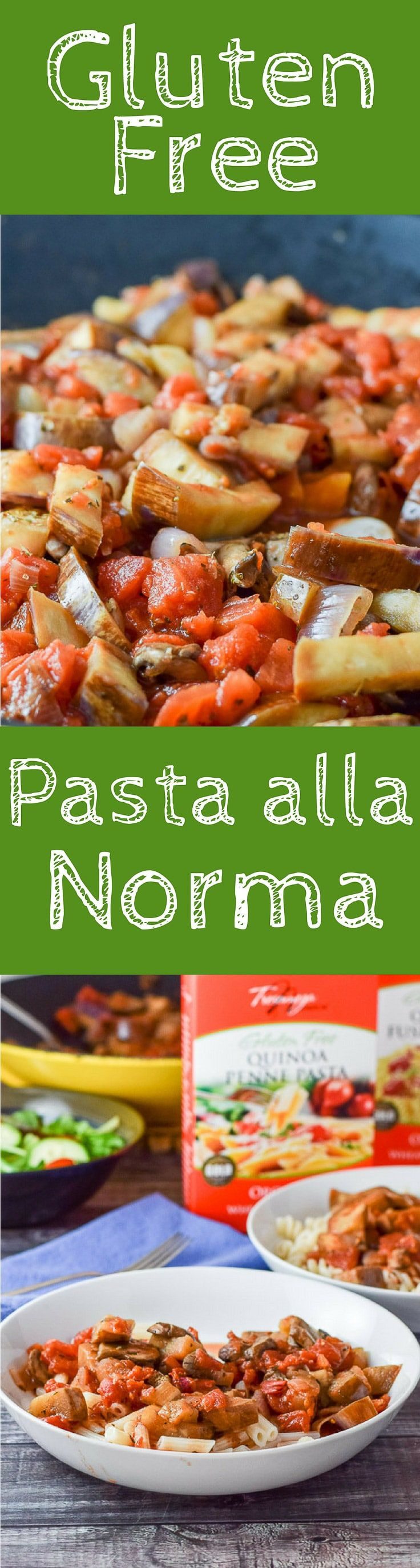 #ad Gluten free pasta alla Norma is so good you'll never know it's gluten free. It cooks up perfectly and is so delicious with the eggplant, shallots, mushrooms and diced tomatoes! #Tresomega #OrganicsForLife https://ddel.co/gfpanor