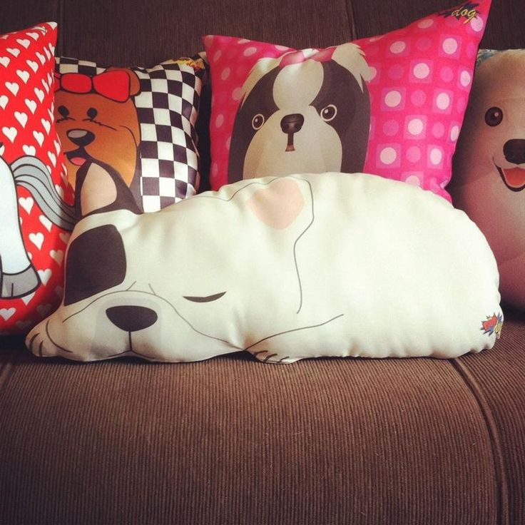 almohada de perrito kawaii
