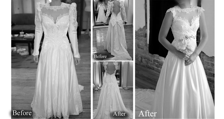 Redesign of a vintage wedding gown.  It can be done beautifully! Will do with my mom's gown!