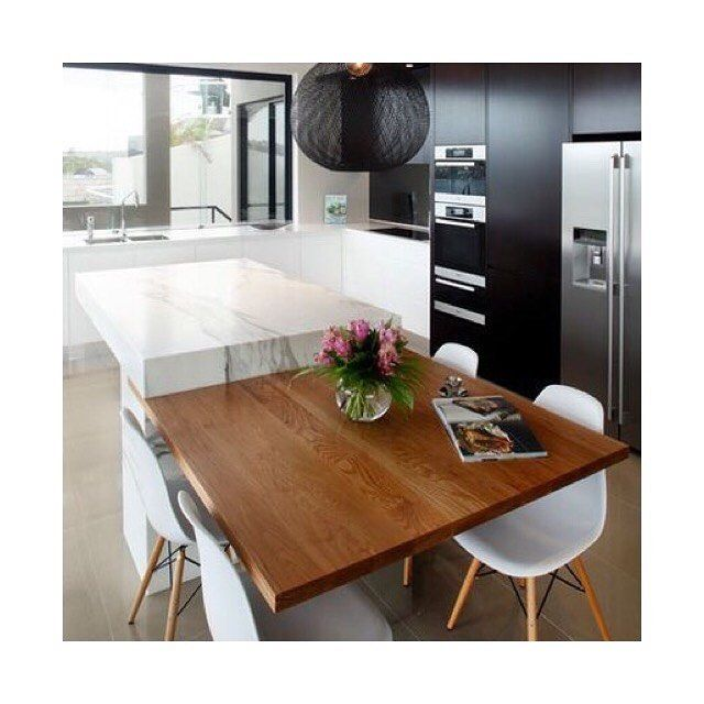 K I T C H E N I N S P O Integrated Tables Benches Practicality Who Uses The Contemporary Kitchen Design Contemporary Kitchen Cabinets Modern Kitchen