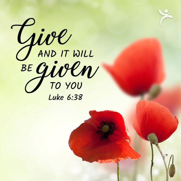 """Christian Art Gifts (@cagifts) on Instagram: """"""""Give, and it will be given to you."""" Luke 6:38 #BibleVerse"""""""