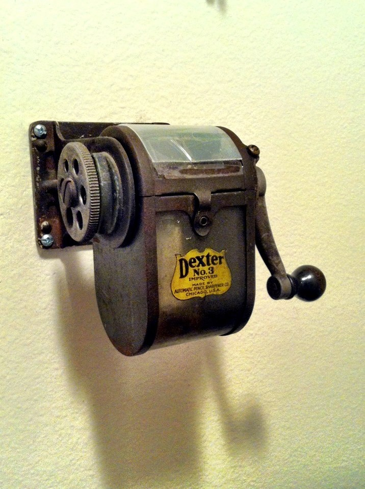 """I love my 1921 pencil sharpener.  Works like a charm.  """"Bouquets of sharpened pencils..."""""""