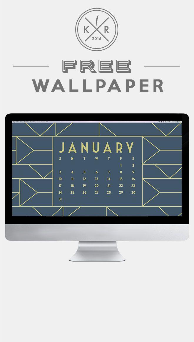 January 2016 calendar free wallpaper for desktop blue & gold | Free ...