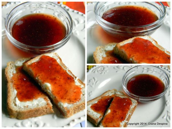Strawberry jam with star anise and cardamom