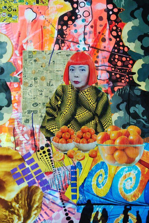 """Assemblage / Collage """"Yayoi Kusama"""""""