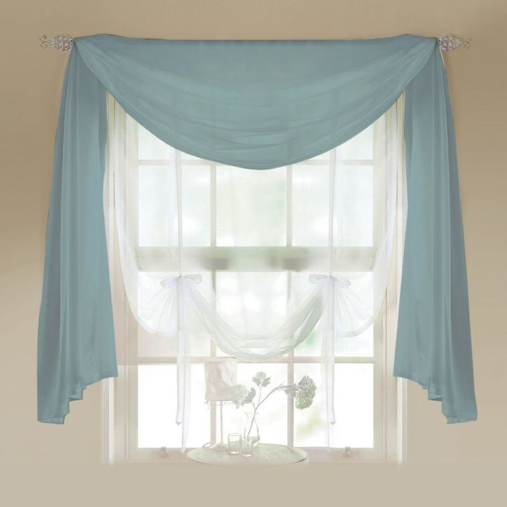 Details About Voile Scarves Aqua Net Curtains U0026 Scarf Voile Valance Swag 3m  And 5m Length