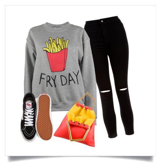 School by maffaldacunha on Polyvore featuring Adolescent Clothing, New Look, Vans and CÉLINE