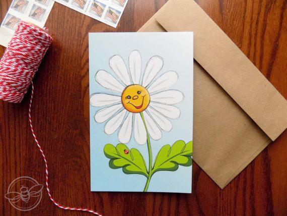 Daisy Smile Greeting Card Inspirational Card Christian