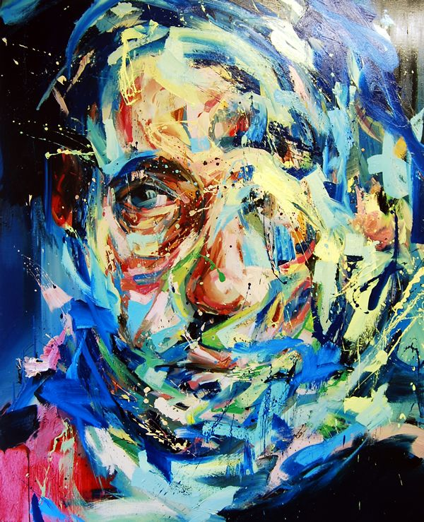 Andrew Salgado  It Is The Fear That Keeps Us Awake  OIl on canvas  60x48""