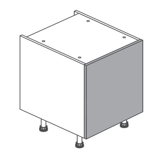 The 500 Highline Base Unit is made of 18mm MFC and it is strong enough to last in your kitchen unit for years. It comprises of a single cabinet with one shelf which is adjustable. This flatpack kitchen cabinet is so easy to assemble as any of you from Tipperary, Ireland who orders it will endorse.