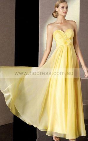Sleeveless Sweetheart Lace-up Chiffon Floor-length Formal Dresses zwh201--Hodress