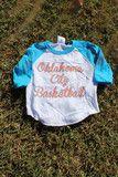 KIDS OKC basketball script baseball t-shirt | Lush Fashion Lounge