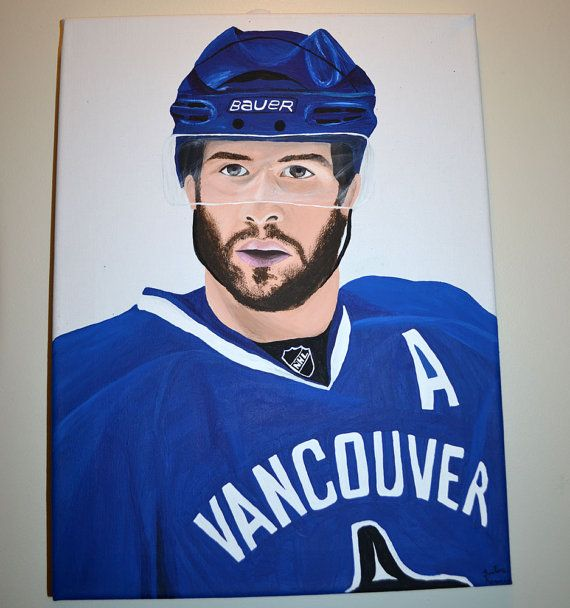 Ryan Kesler Vancouver Canucks Team USA Painting Anaheim Ducks by 21CannonSalute