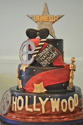 Awesome Sweet 16 Hollywood cake!