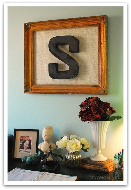 Cheap wall art framed wooden lettersframed monogrammonogram lettersframed burlapdiy