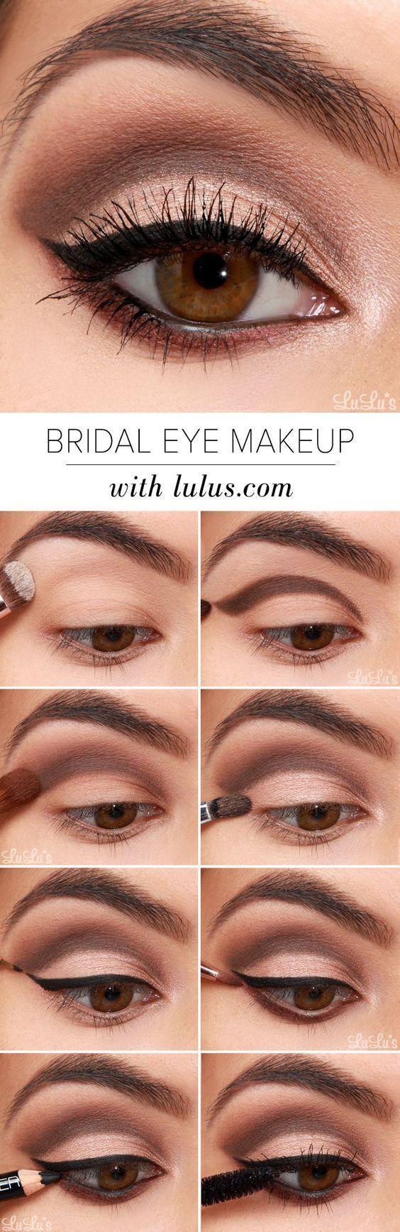 15 Easy Step By Bridal Eye Makeup Tutorials