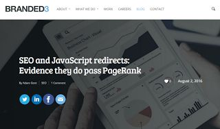 SEO and JavaScript redirects: Evidence they do pass PageRank